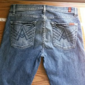 """7 For All Mankind """"A"""" Pocket Jeans Size 32"""